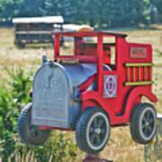 Firetruck Mailbox Art Print
