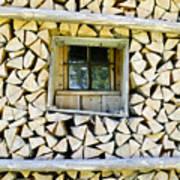 Firewood Print by Frank Tschakert