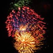 Firework Jewel Blast Art Print
