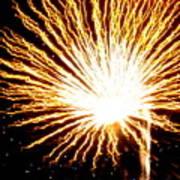 Firework Yellow Burst Art Print