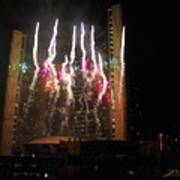Fireworks At Toronto City Hall Art Print