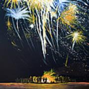Fireworks Bonfire On The West Bar Art Print