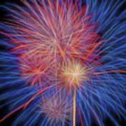 Fireworks Celebration Glow Square Art Print
