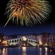 Fireworks Display, Venice Art Print