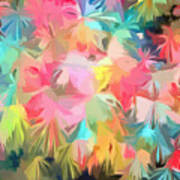 Fireworks Floral Abstract Square Art Print