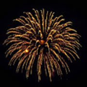 Fireworks - Gold Dust Art Print