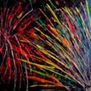 Fireworks In Bled Art Print