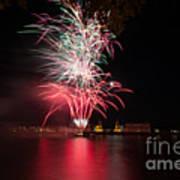 Fireworks In Greenwich  Art Print