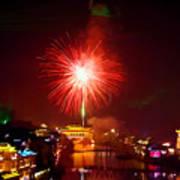 Fireworks In Phoenix Art Print