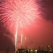 Fireworks In Venice Art Print