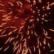 Fireworks Light Up The Sky While Celebrating Bastille Day Art Print by Sami Sarkis