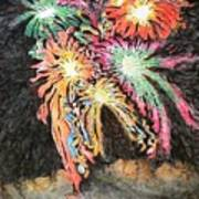 Fireworks Man Art Print