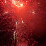 Fireworks Over Humboldt Bay Art Print
