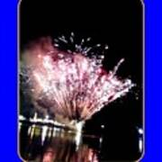 fireworks over San Rafael lake Art Print