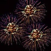 Fireworks - Purple Power Art Print
