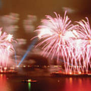Fireworks Red Art Print