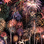 Fireworks Spectacular II Art Print by Ricky Barnard