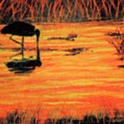 Firey Water Art Print