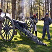 Firing The Cannon Art Print