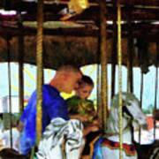 First Carousel Ride Art Print