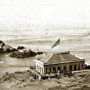 First Cliff House  View Of Ropes From The Cliff House To Seal Rock Circa 1865 Art Print