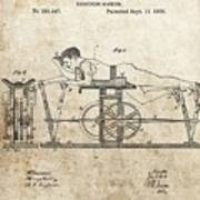 First Exercise Machine Patent Art Print