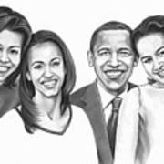 First-family 2013 Art Print