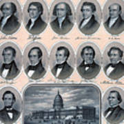 First Hundred Years Of American Presidents Art Print