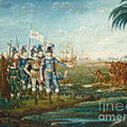 First Landing Of Christopher Columbus Art Print