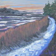 First Light At Newharbor Art Print