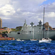 First Peak At Australia's Newest Warship Art Print