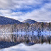 First Snow On West Lake Art Print