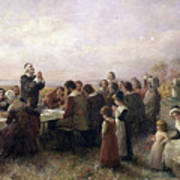 First Thanksgiving Vintage Painting Art Print