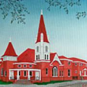 First United Methodist Church  Terrell Tx Art Print