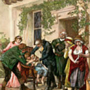 First Vaccination, 1796 Art Print