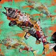 Fish And Bourbon Art Print