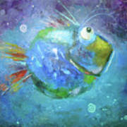Fish Blue Art Print