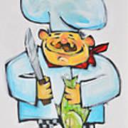 Fish Chef Art Print