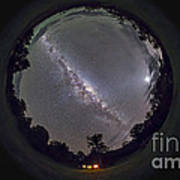 Fish-eye Panorama Of The Southern Night Art Print