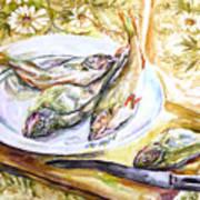 Fish For Dinner. Art Print