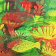 Fish In Green Art Print