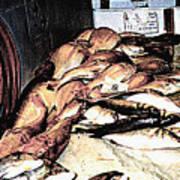 Fish Market On The Isle Of Capri,italy Art Print