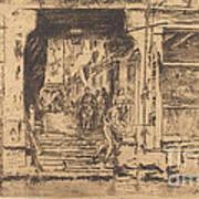 Fish-shop, Venice Art Print