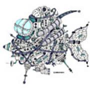 Fish Submarine Art Print