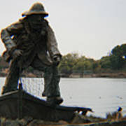 Fisher Statue Art Print