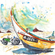 Fisherboat In Praia De Mira Art Print