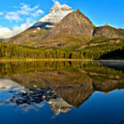 Fishercap Snowcap Reflections Art Print
