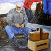 fisherman from Mola di Bari Art Print