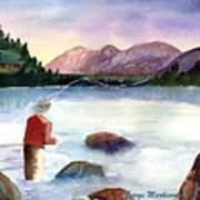 Fisherman In The Morning Art Print