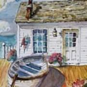 Fisherman's Cottage Art Print